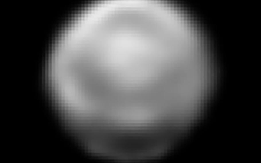 By late June, New Horizons was about 29 million miles away from Pluto, and able to make out distinct features on the hemispheres.