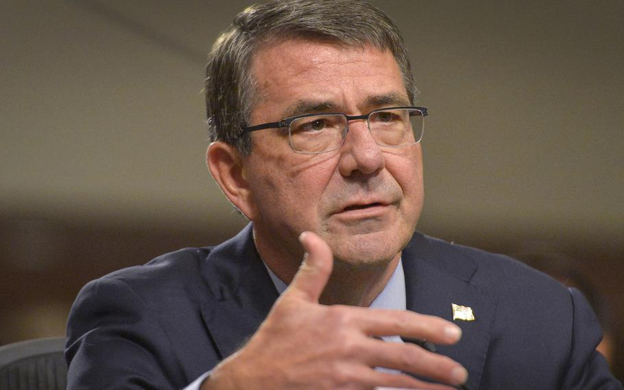 Secretary of Defense Ash Carter testifies before the Senate Armed Services Committee on behalf of the Iranian nuclear deal recently brokered by the Obama Administration in Washington, D.C., July 29, 2015.