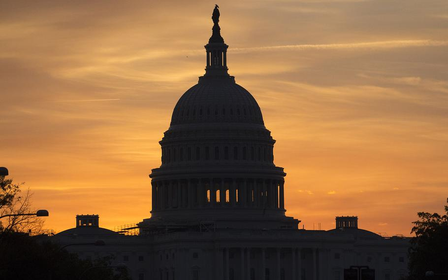 The U.S. Capitol at dawn on Oct. 30, 2016.