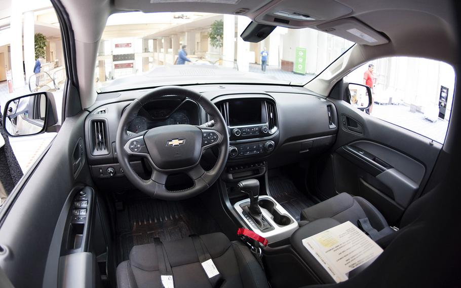 An interior view of the ZH2 Fuel Cell Electric Vehicle, a joint project of General Motors and the U.S. Army, on display at the Washington Auto Show, Jan. 26, 2017.