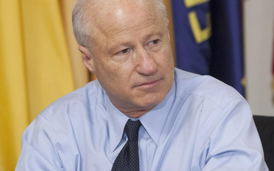 Rep. Mike Coffman, R-Colo., listens during a House Committee on Veterans' Affairs hearing on Capitol Hill, March 7, 2017.