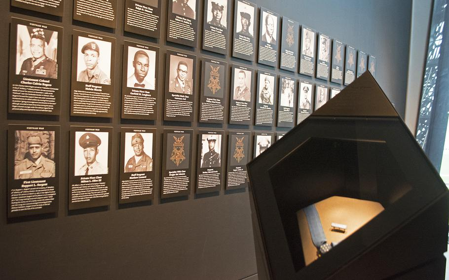 An inside look at the military section at the National Museum of African American History in Washington, D.C., on March 28, 2017. This is the Medal of Honor section.