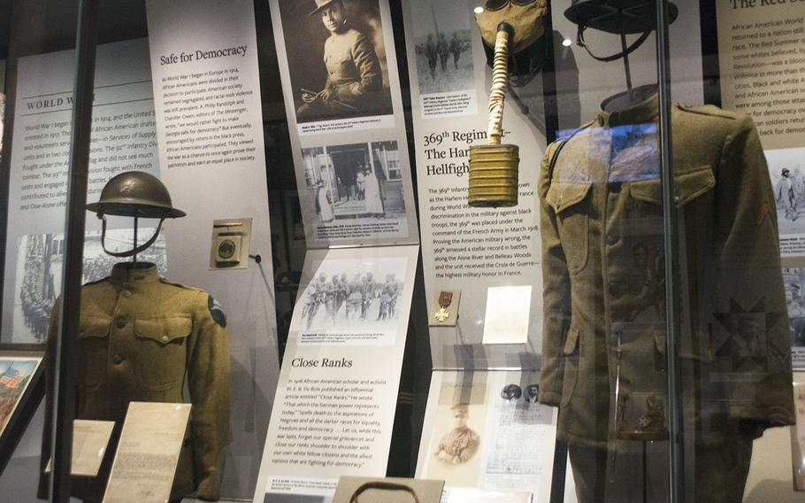 An inside look at the military section at the National Museum of African American History in Washington, D.C., on March 28, 2017.