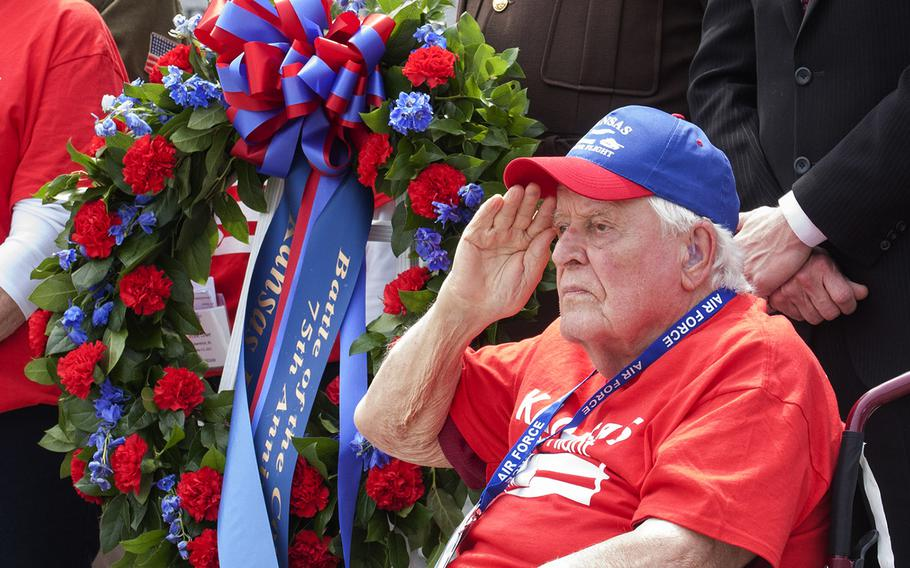 Ewin Aley is a WWII, Korea and Vietnam veteran from Kansas. He served in the US Marine Corps and later joined the US Air Force. He was one of the honorees during the Battle of the Coral Sea 75th Anniversary at the World War II Memorial in Washington, D.C., on May 4, 2017.