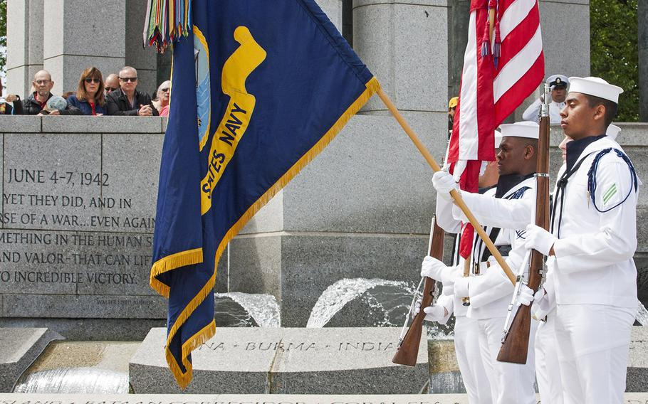 The Battle of the Coral Sea 75th Anniversary Commemoration at the World War II Memorial in Washington, D.C., on May 4, 2017.