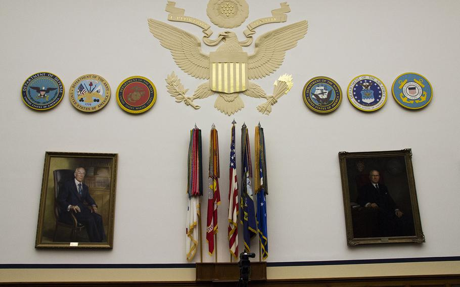 The House Armed Services Committee hearing room.
