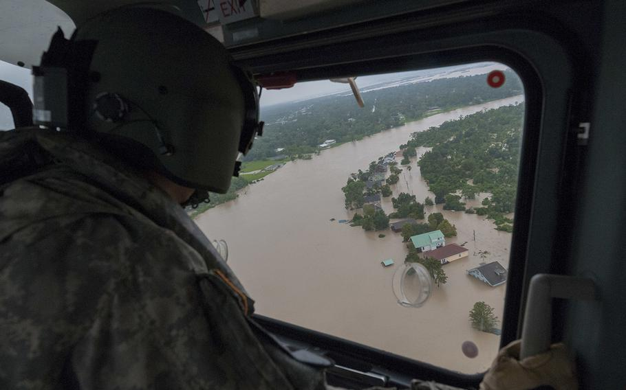 Search and rescue operations continue in the aftermath of Hurricane Harvey. Some of the wounded were treated by staff at the Department of Veterans Affairs hospital in downtown Houston.