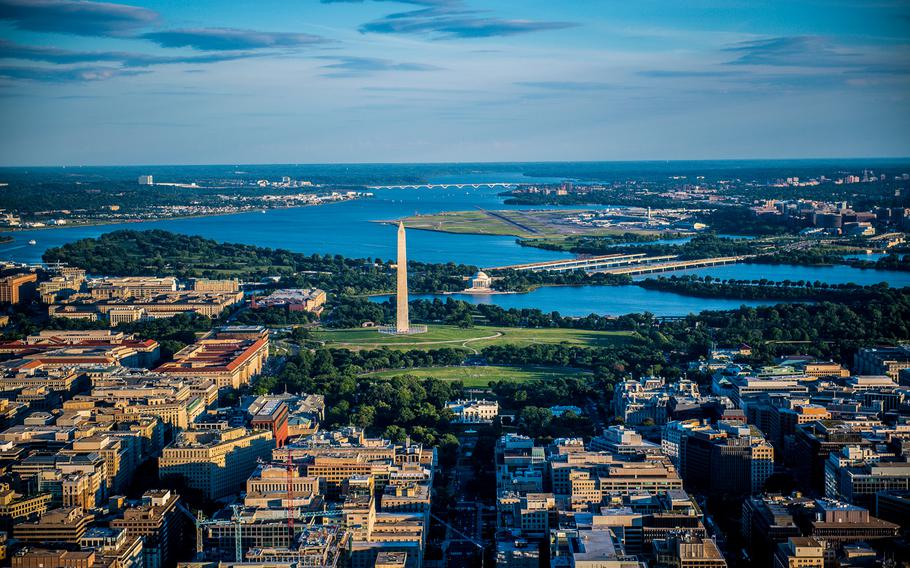 Washington, D.C., is shown in this June 6, 2017, aerial photo.