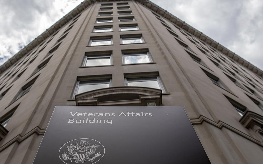 The headquarters building of the Department of Veterans Affairs as seen on June 28, 2018, in Washington, D.C.