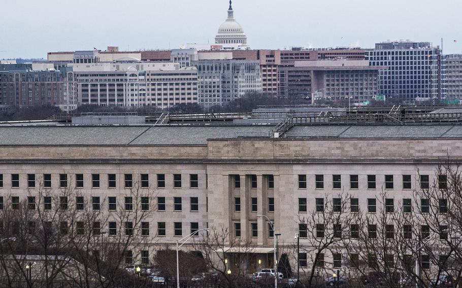 The Pentagon and the U.S. Capitol, in January, 2018.