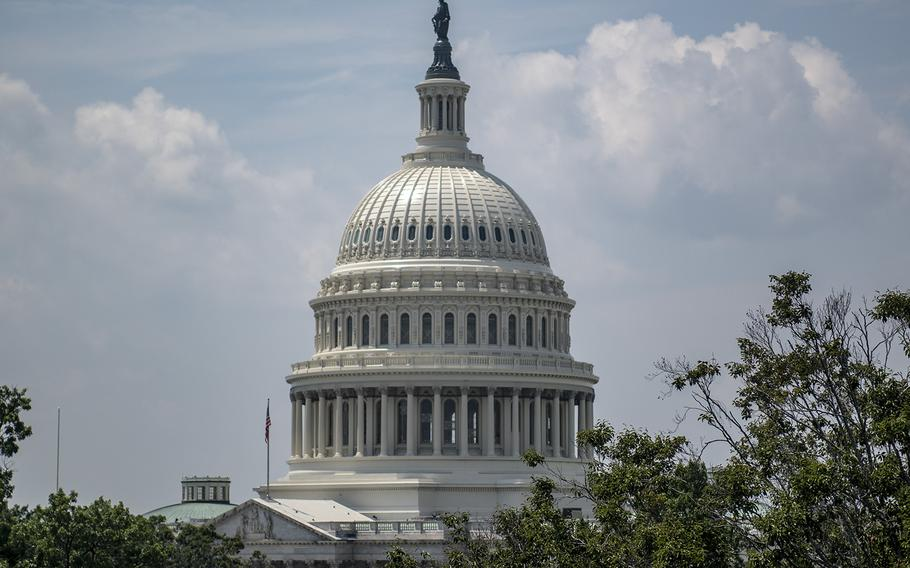 The U.S. Capitol seen on Aug. 7, 2018. Members of Congress on Thursday, Sept. 13, were moving ahead on a spending measure to avert a government shutdown.