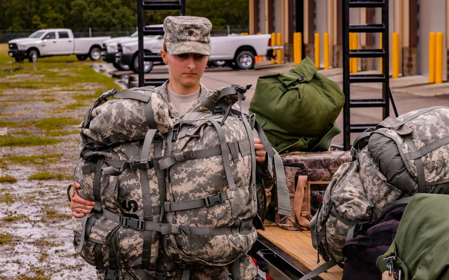 Members of Florida National Guard CBRN Enhanced Response Force Package prepare to help citizens in affected areas prior to landfall of Hurricane Michael.