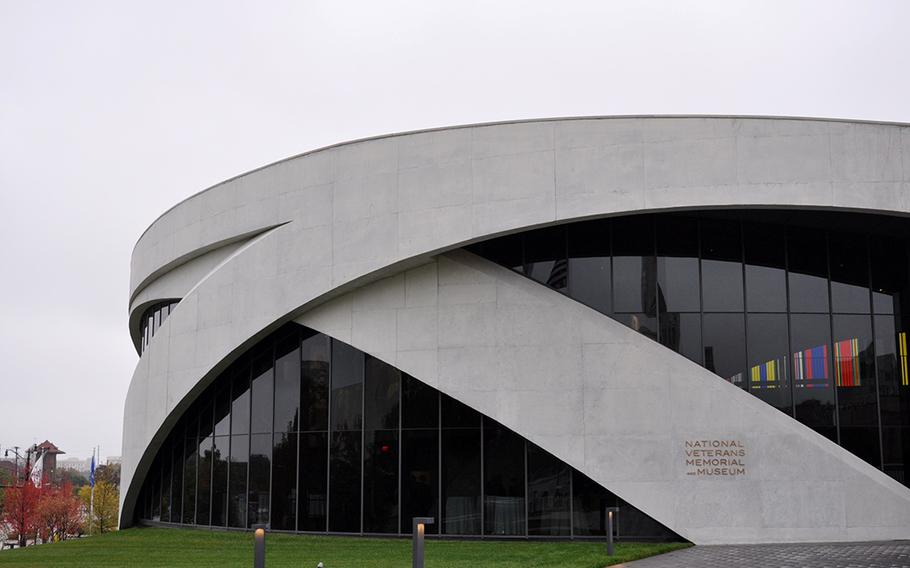 """The National Veterans Memorial and Museum opened Saturday in Columbus, Ohio. The museum, designated by Congress as a """"national"""" site, aims to connect veterans and share their experiences with those who didn't serve."""