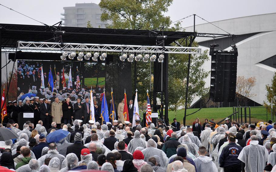 Hundreds of people attended a grand opening ceremony in Columbus, Ohio, on Saturday for the National Veterans Memorial and Museum. U.S. senators and representatives from Ohio, as well as Department of Veterans Affairs Secretary Robert Wilkie and retired Gen. Colin Powell spoke at the event.