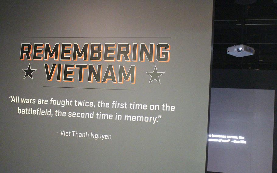 """Entrance of the, """"Remembering Vietnam,"""" exhibit at the National Archives in Washington, D.C. The exhibit runs through Jan. 6, 2019."""