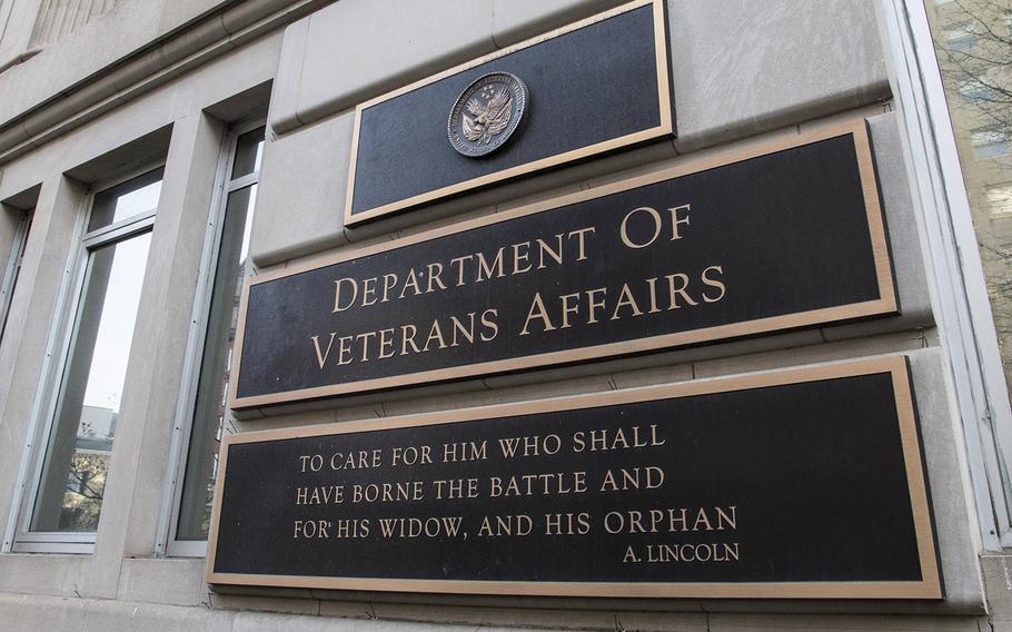 The Department of Veterans Affairs in Washington, D.C.