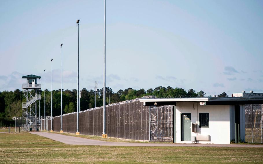 This April 16, 2018 file photo shows the Lee Correctional Institution in Bishopville, S.C. A review by The Associated Press has found prisoners who kill other prisoners behind bars in South Carolina often face little additional punishment. Prosecutors won convictions in 18 of 26 closed cases involving the deaths of inmates at the hands of fellow prisoners in the past 20 years. State agents are still investigating the deaths of seven inmates during an April riot at Lee Correctional Institution. No charges have been filed yet.