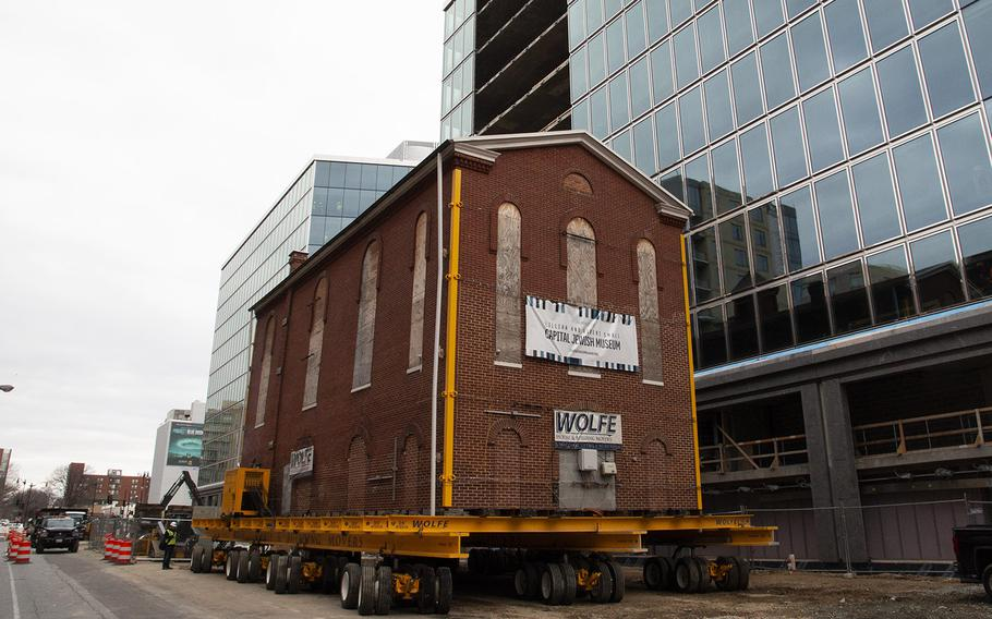 Washington's oldest synagogue building is ready to be moved to its permanent location on January 9, 2019.