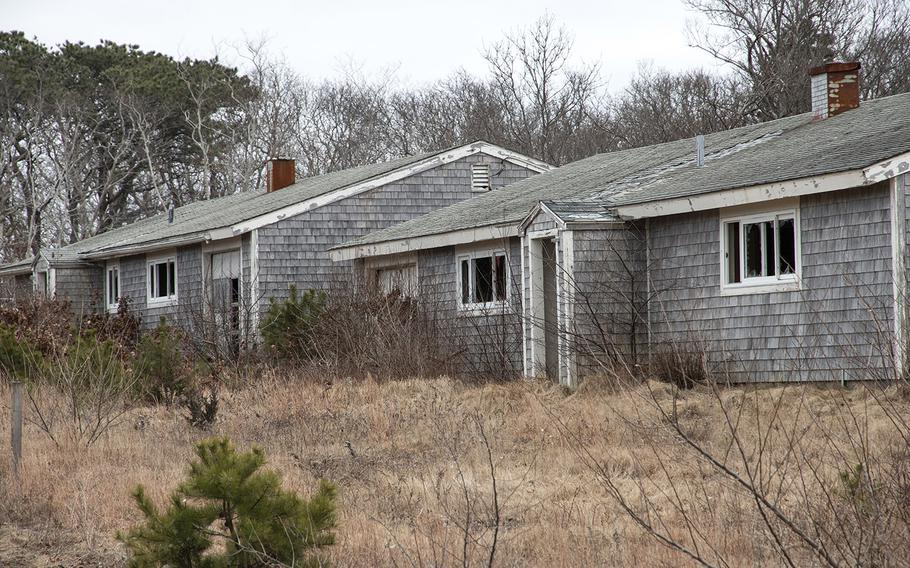 The family housing area at the former North Truro Air Force Station on Cape Cod, in January, 2019.