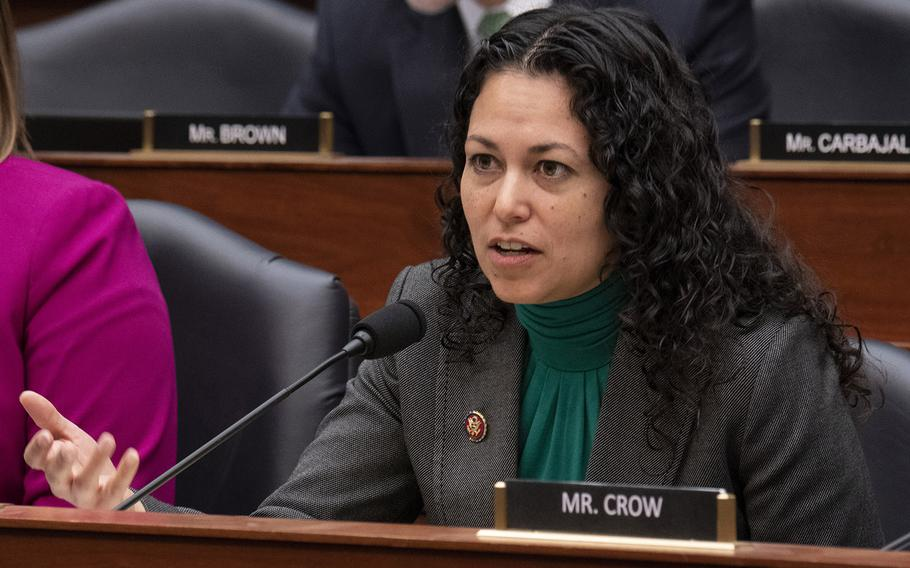Rep. Xochitl Torres Small, D-N.M., questions the witnesses during a House Armed Services Committee hearing on DOD support to the southern border, Jan. 29, 2019 on Capitol Hill.