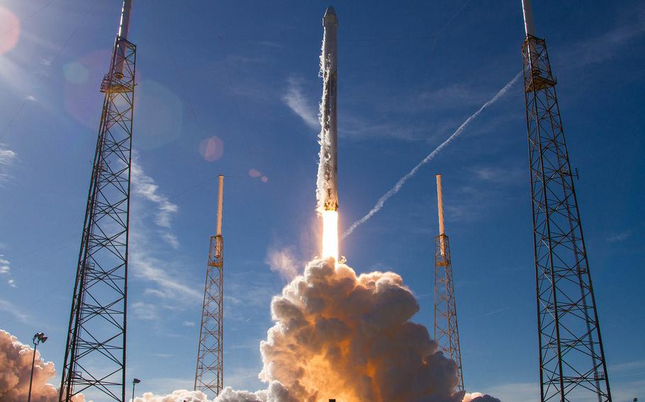 A SpaceX Falcon 9 rocket launches from Cape Canaveral Air Force Station, Fla., on Dec. 15, 2017. Israel is set to launch a Falcon 9 rocket from the Cape Canaveral site on Thursday, Feb. 21, 2019, to deliver a robotic lander to the moon.