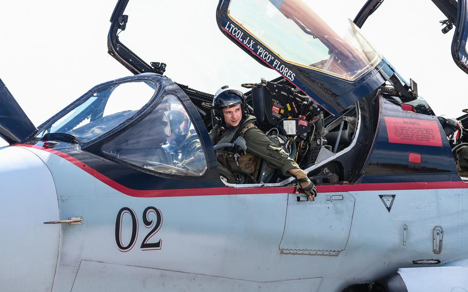 A U.S. Marine prepares to exit an EA-6B Prowler at Marine Corps Air Station Cherry Point, North Carolina, Feb. 26, 2019. Marine Tactical Electronic Warfare Squadron (VMAQ) 2 flew the aircraft in preparation for their final flight as the last remaining Prowler squadron in the Marine Corps.