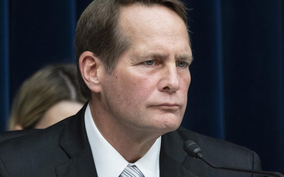 Rep. Harley Rouda, D-Calif. chairman of the House Oversight and Reform Committee's environment subpanel, listens during a hearing on PFAS chemicals and their risks, March 6, 2019 on Capitol Hill.