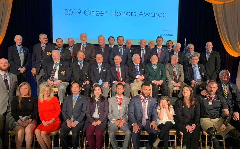 Medal of Honor recipients came together at the Institute for Peace in Washington, D.C., on Monday, March 25, 2019, to honor community heroes at the 2019 Congressional Medal of Honor Society Citizen Honors Awards