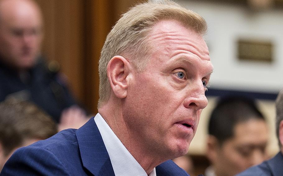Acting Secretary of Defense Patrick Shanahan testifies before the House Armed Services Committee on Tuesday, March 26, 2019, during a hearing on Capitol Hill in Washington.