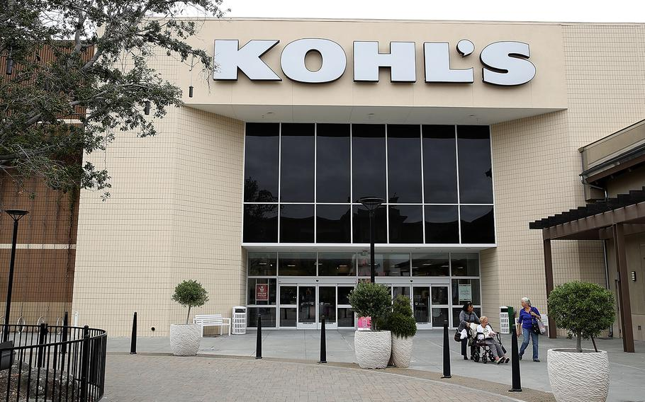 Customers leave a Kohl's store on August 21, 2018 in San Rafael, Calif.
