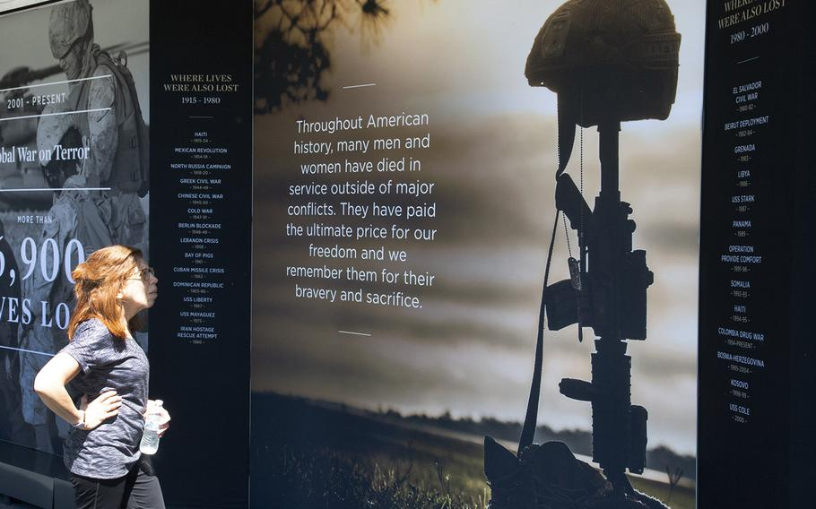 USAA's Poppy Wall of Honor on the National Mall in Washington, D.C., May 24, 2019.
