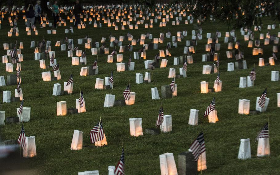 The 24th annual luminaria at Fredericksburg National Cemetery in Fredericksburg, Va., May 25, 2019.