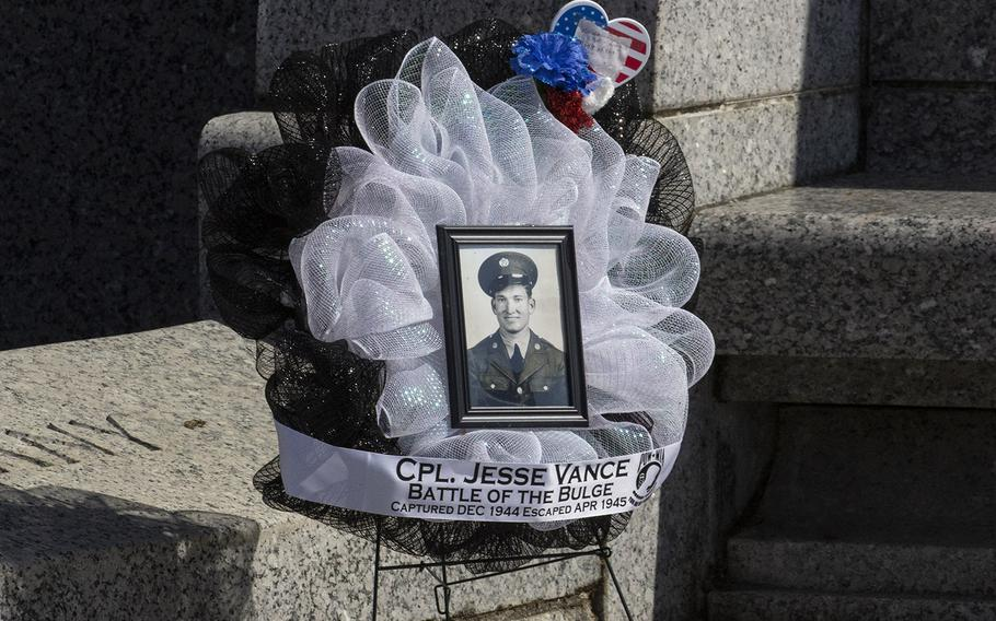 A tribute on Memorial Day at the National World War II Memorial in Washington, D.C., May 27, 2019.