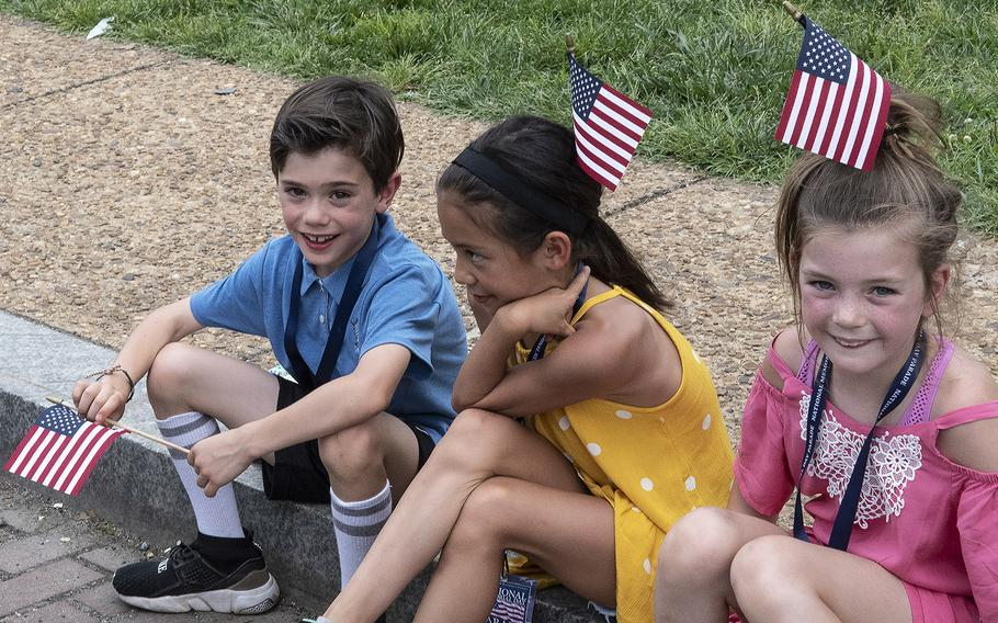 Young spectators at the National Memorial Day Parade in Washington, D.C., May 27, 2019.