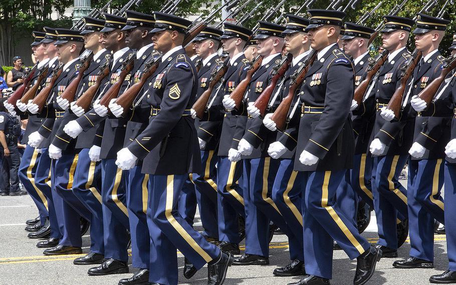 The National Memorial Day Parade in Washington, D.C., May 27, 2019.
