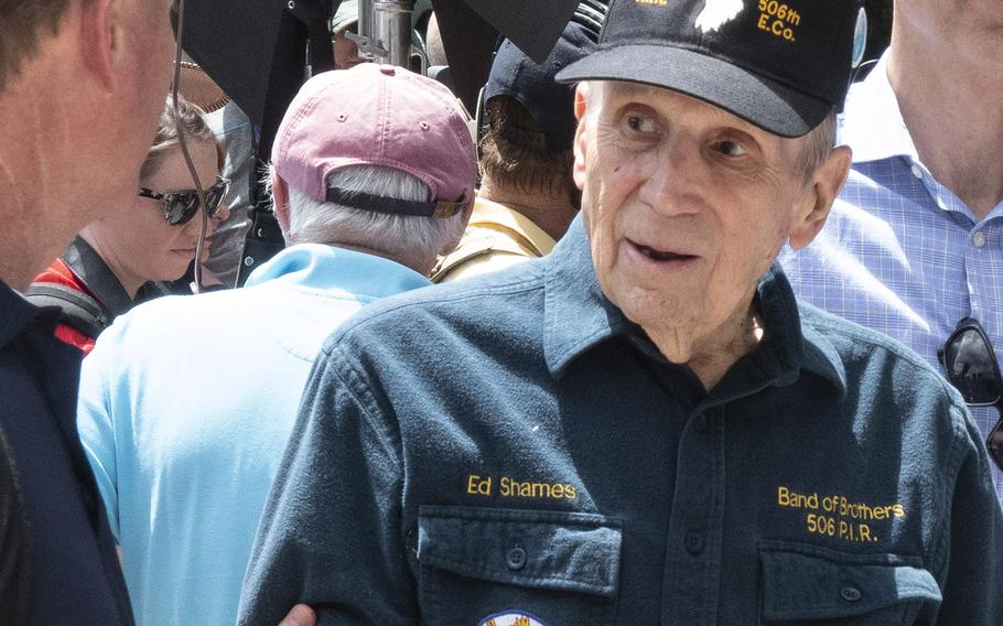 Ed Shames of the famous World War II Band of Brothers was among the honored guests at the National Memorial Day Parade in Washington, D.C., May 27, 2019.