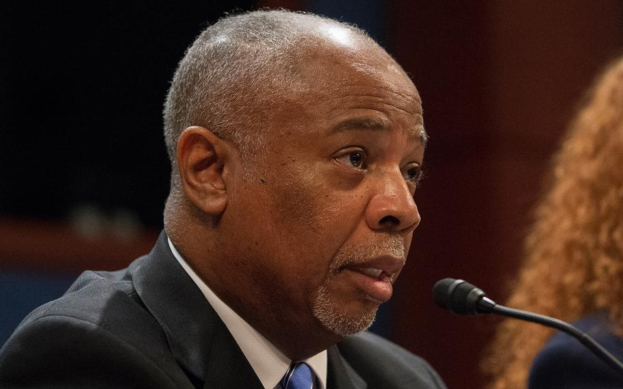 Willie Clark, deputy undersecretary for field operations with the Veterans Benefits Administration, testifies during a hearing on Capitol Hill in Washington on Thursday, June 20, 2019.