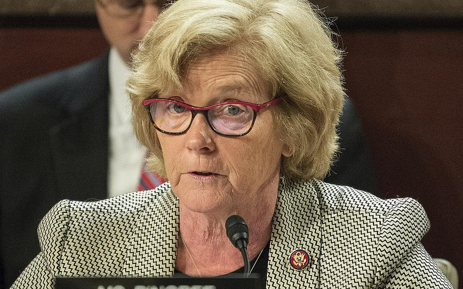 Rep. Chellie Pingree, D-Maine, speaks during a hearing on Capitol Hill in Washington on Thursday, June 20, 2019.