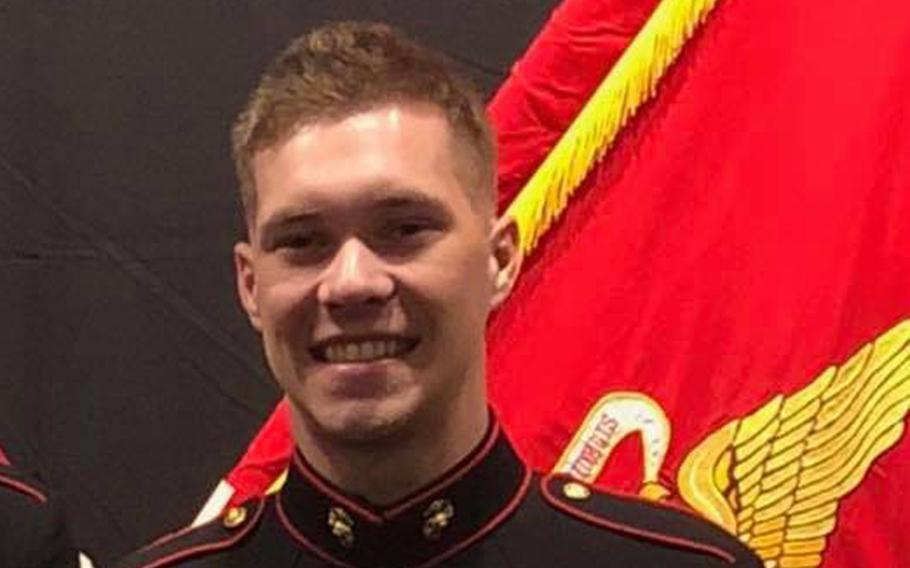 Lance Cpl. Riley S. Kuznia, 20,  was shot to death at Marine Barracks Washington, D.C., on Jan. 1, 2019.