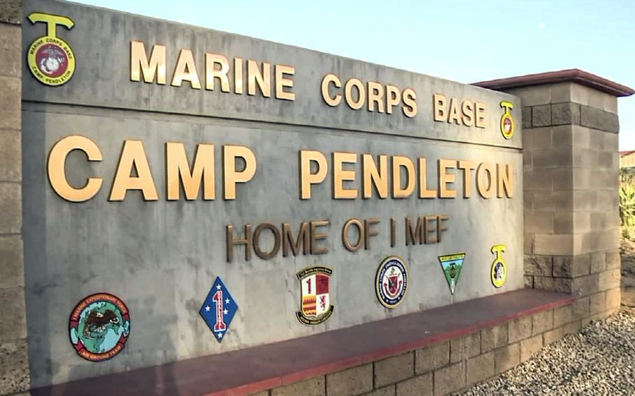 Ten Marines arrested during a July 25, 2019 formation at Camp Pendleton, Calif., remain in custody as they await charges for their alleged involvement in smuggling.