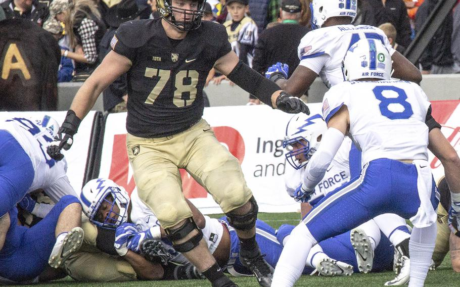 Army's Brett Toth (78), seen here in a game against Air Force in 2016.