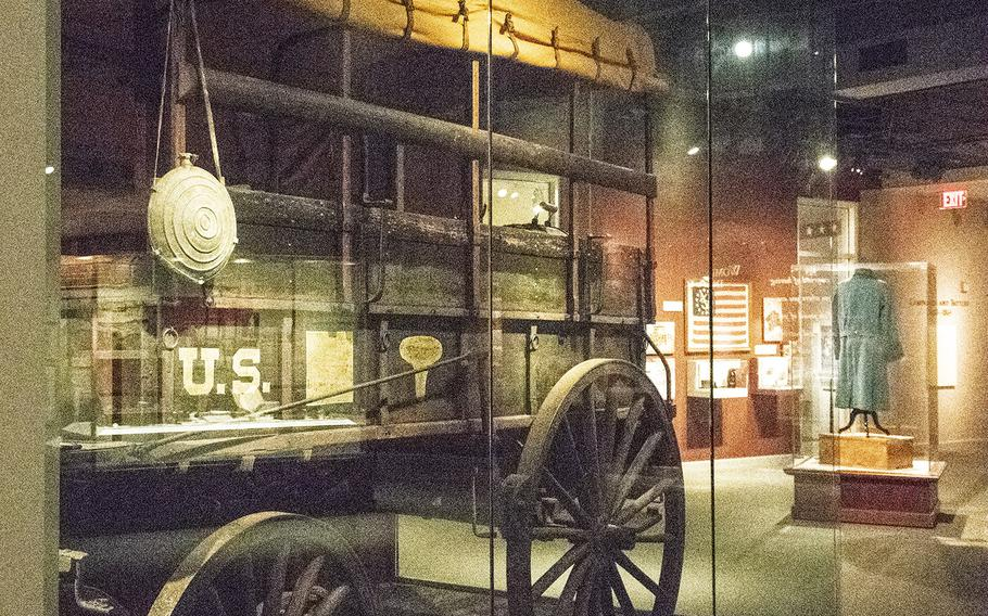 A complete Civil War ambulance is on display at the National Civil War Museum in Harrisburg, Pa.