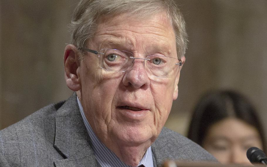 Senate Veterans' Affairs Committee Chairman Johnny Isakson, R-Ga., shown here at a hearing in March, 2018, will resign at the end of the year due to ongoing health problems.