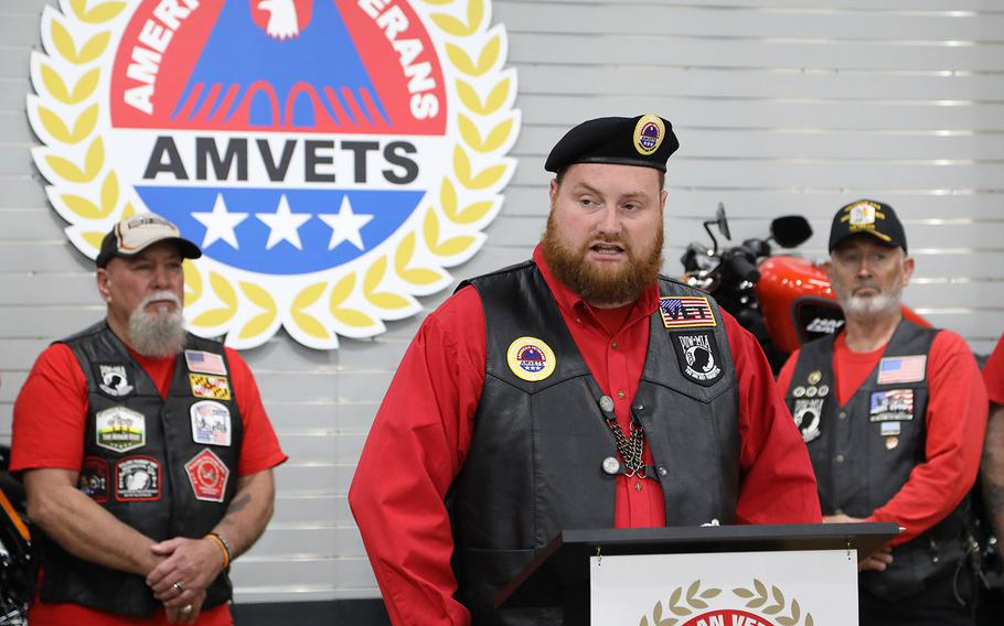 """American Veterans' National Executive Director Joe Chenelly discusses the veterans organization's """"Rolling to Remember"""" event for Memorial Day weekend in 2020. The three-day event will include a motorcycle ride through the nation's capital, taking the place of the Rolling Thunder event, which ended in 2019."""