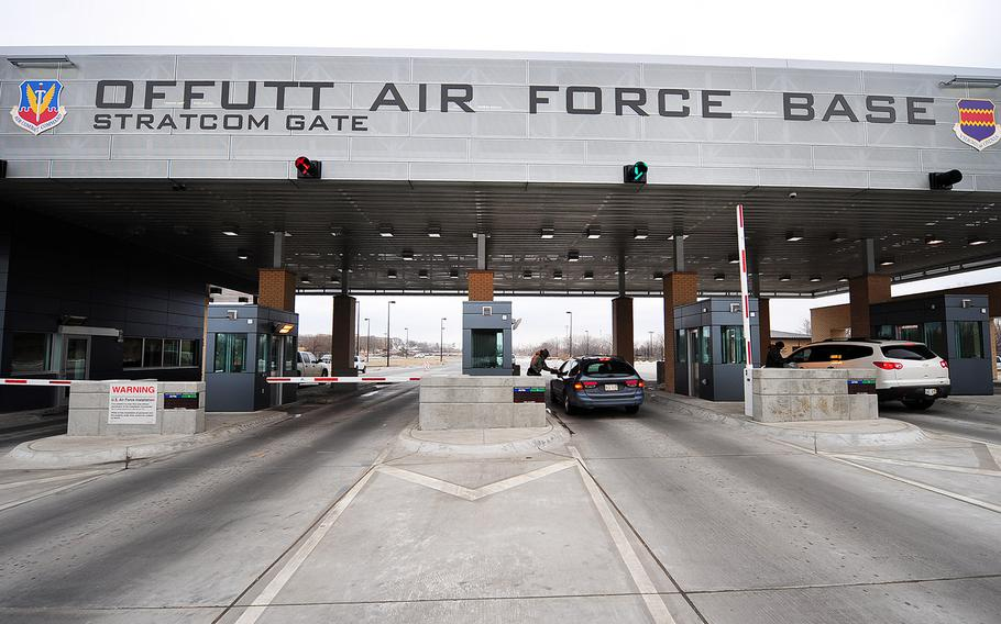 The Strategic Command Gate on Offutt Air Force Base, Neb., in 2013.