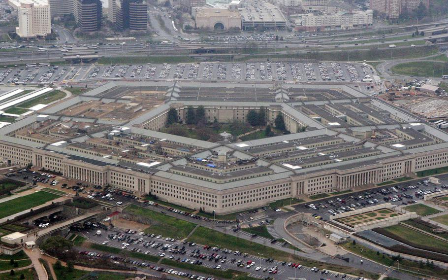 An aerial view of the Pentagon is seen in Washington on March 27, 2008.
