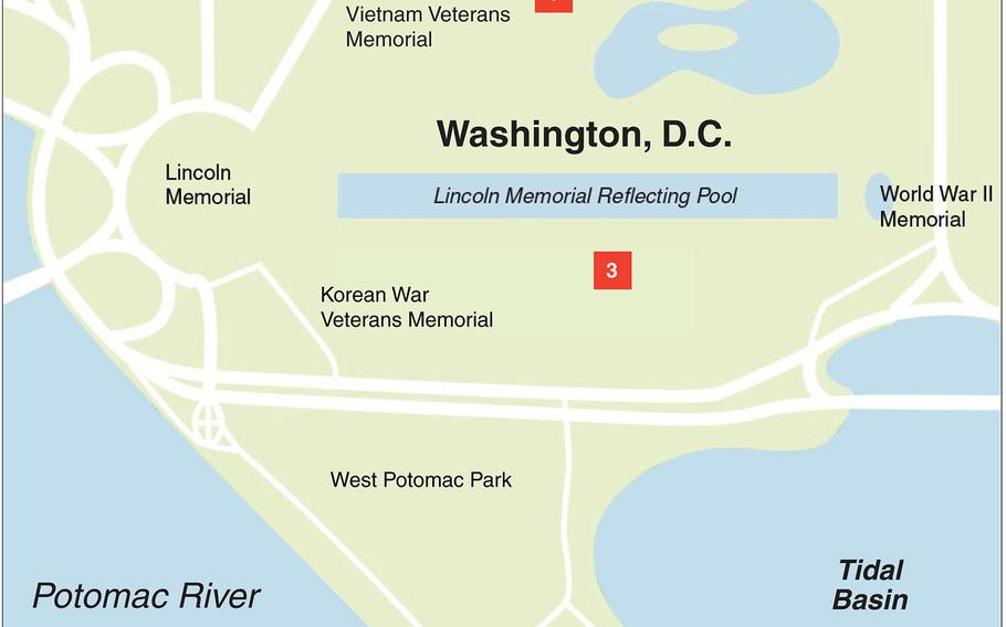 Two House lawmakers introduced a bill Tuesday to propose three locations for the new Global War on Terrorism Memorial on the National Mall in Washington, D.C. The choices are: (1) Constitution Gardens, near the Vietnam Veterans Memorial; (2), JFK Hockey Fields, across from West Potomac Park; and (3) near the Lincoln Memorial Reflecting Pool, between the Korean and World War II Memorials.