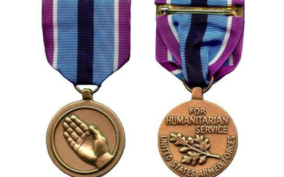 The Humanitarian Service Medal.