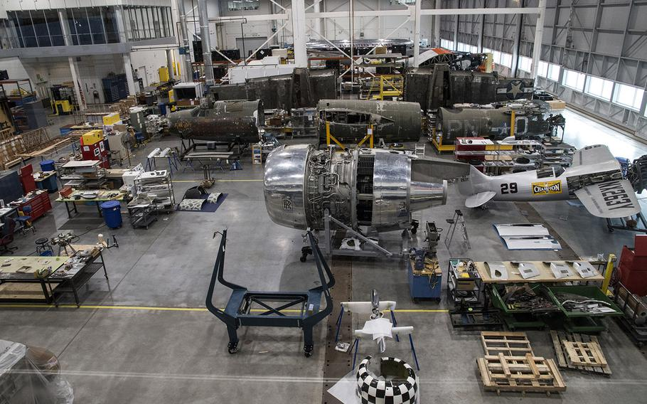 An overview of the Mary Baker Engen Restoration Hangar at the Smithsonian's Udvar-Hazy Center in January, 2020.