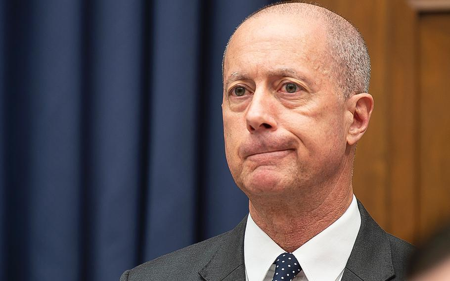 """Rep. Mac Thornberry, R-Texas, Ranking Member of the House Armed Services Committee, listens to testimony during a hearing on Capitol Hill in Washington on Wednesday, Feb. 26, 2020. Thornberry noted that presidential directives to shift funds from equipment and weapons to border security """"undermines the principle of civilian control of the military."""""""